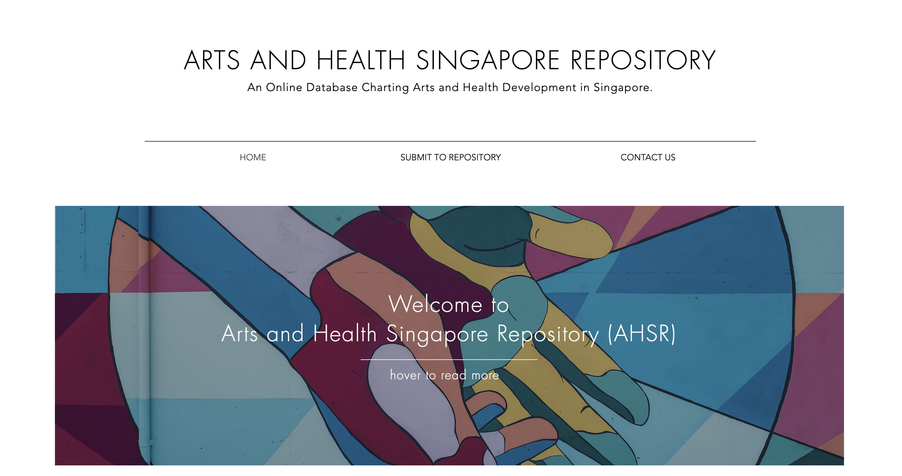 Artshealthrepository.sg is now live!